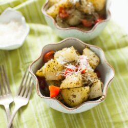 Warm Potato Pesto Salad from thelittlekitchen.net
