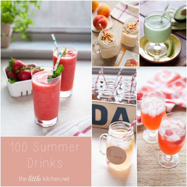 100 Summer Drinks from thelittlekitchen.net