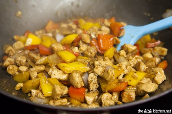 Pepper Chicken with Cashews Stir Fry from thelittlekitchen.net