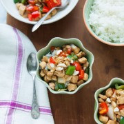 Pepper Chicken with Cashews Stir Fry from thelittlekitchen.net