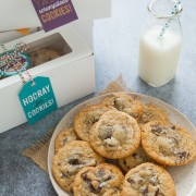 Double Chocolate Chunk Cookies with Sea Salt from thelittlekitchen.net #fbcookieswap