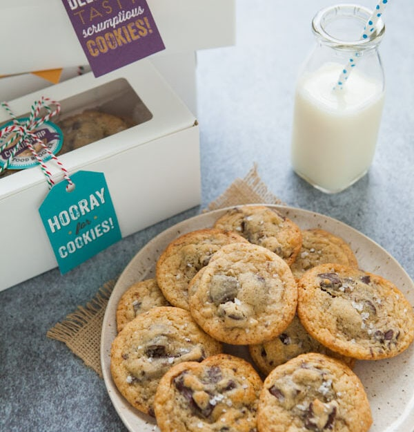 Double Chocolate Chunk Cookies with Sea Salt from thelittlekitchen.net ...