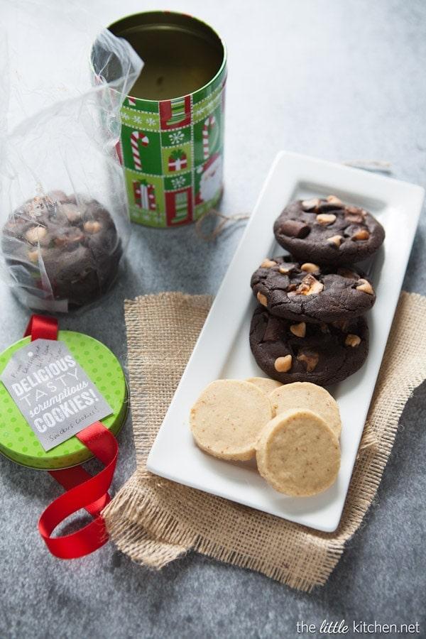 Double Chocolate Chunk Cookies with Sea Salt from thelittlekitchen.net #fbcookieswap