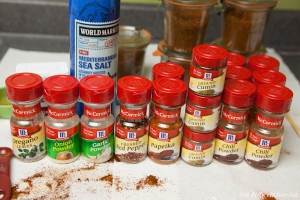 Homemade Taco Seasoning thelittlekitchen.net