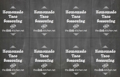 {Printable} Taco Seasoning Tags from thelittlekitchen.net