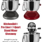 KitchenAid Stand Mixer Giveaway thelittlekitchen.net
