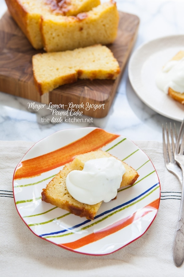 Meyer Lemon-Greek Yogurt Pound Cake from thelittlekitchen.net