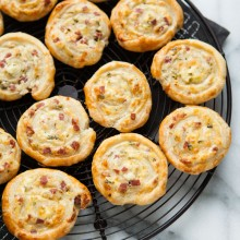 Cheddar and Smoked Summer Sausage Pinwheel Appetizers from thelittlekitchen.net