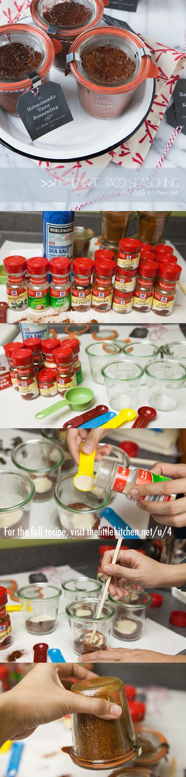 {makes a great gift!} Homemade Taco Seasoning thelittlekitchen.net