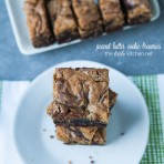 Peanut Butter Cookie Brownies from thelittlekitchen.net