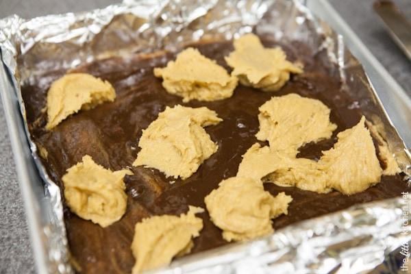 Peanut Butter Cookie Brownies from thelittlekitchen.net