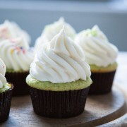 Pistachio Pudding Cupcakes from thelittlekitchen.net