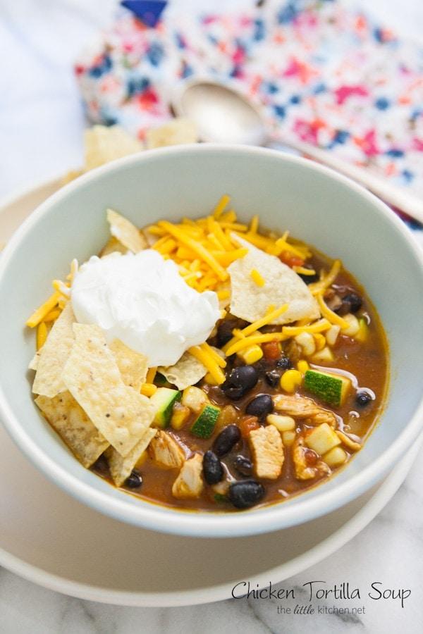Chicken Tortilla Soup from thelittlekitchen.net