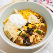Chicken Tortilla Soup from thelittlekitchen.net