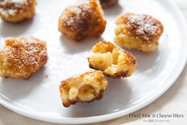 Fried Mac & Cheese Bites from thelittlekitchen.net