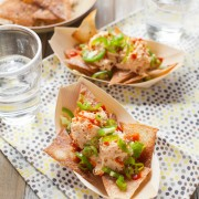 Spicy Crab Wonton Nachos from thelittlekitchen.net