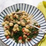 Gnocchi with Brown Butter Cream Sauce & Kale from thelittlekitchen.net
