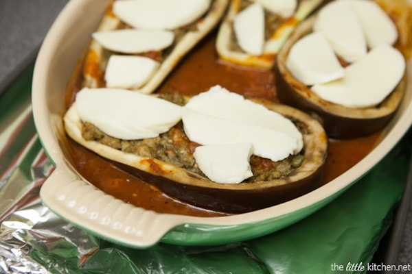 Stuffed Eggplant Recipe from thelittlekitchen.net