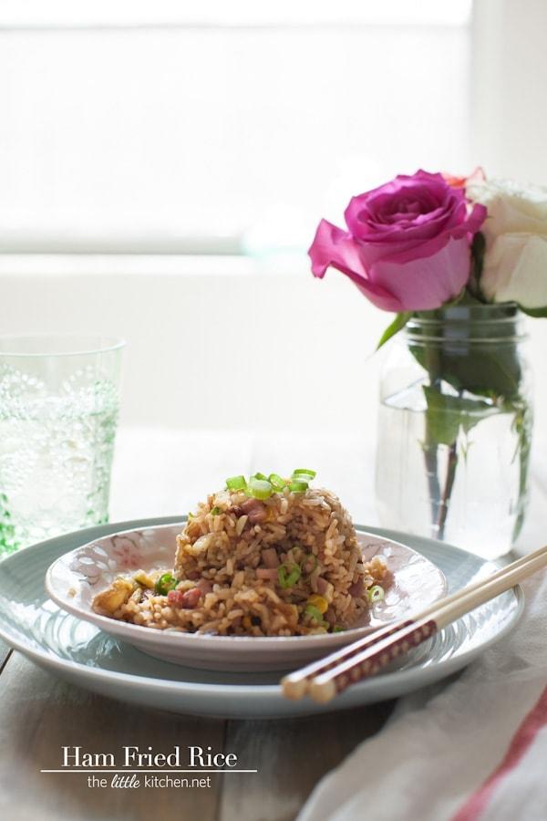 Secret Ingredient Ham Fried Rice from thelittlekitchen.net