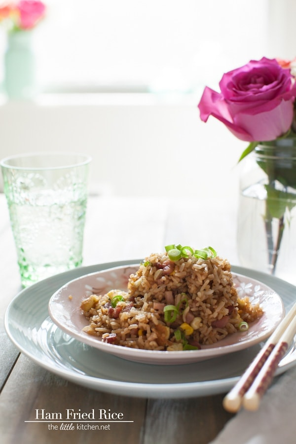 Secret Ingredient Ham Fried Rice - The Little Kitchen