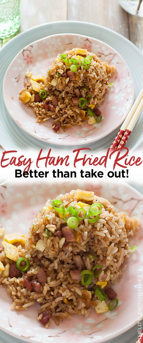 Ham Fried Rice from thelittlekitchen.net