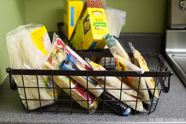Kitchen Organizing Tip: Get rid of what you don't need and make things that you use every day accessible in your pantry.