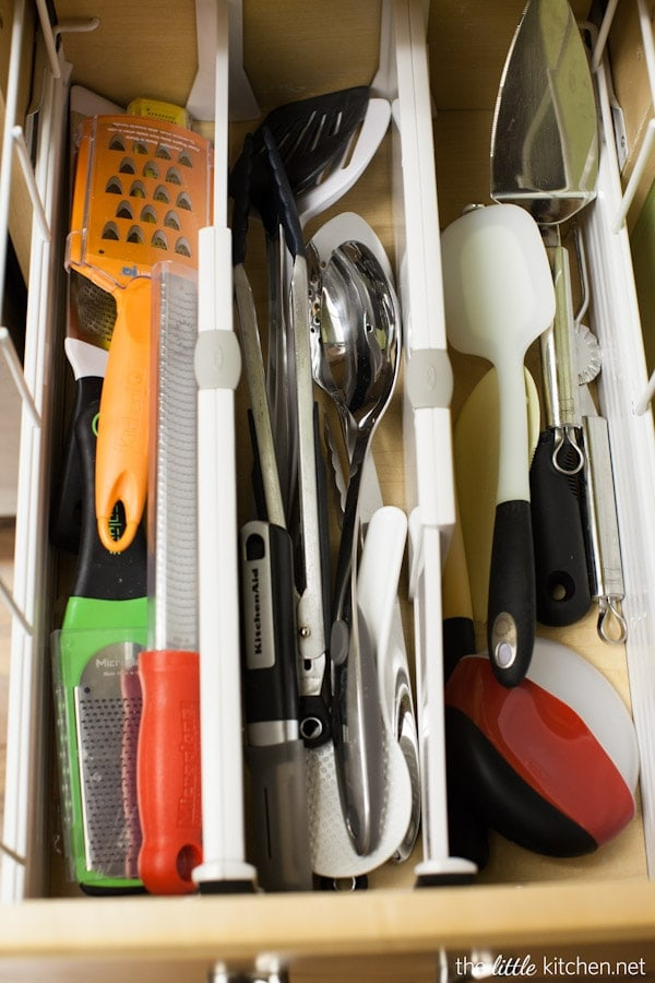 Kitchen Organizing Tip: In your gadget drawer, use drawer dividers and drawer organizers to keep every day items easy to find.