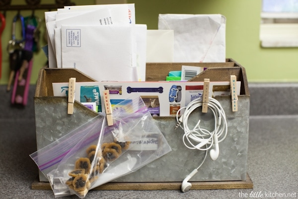 Kitchen Organizing Tip: Use a great looking mail center to relieve the clutter from daily mail.