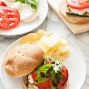 Grilled Zucchini Caprese Sandwich from thelittlekitchen.net