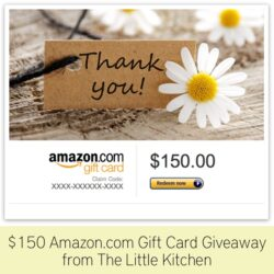 $150 Amazon.com Gift Card Giveaway