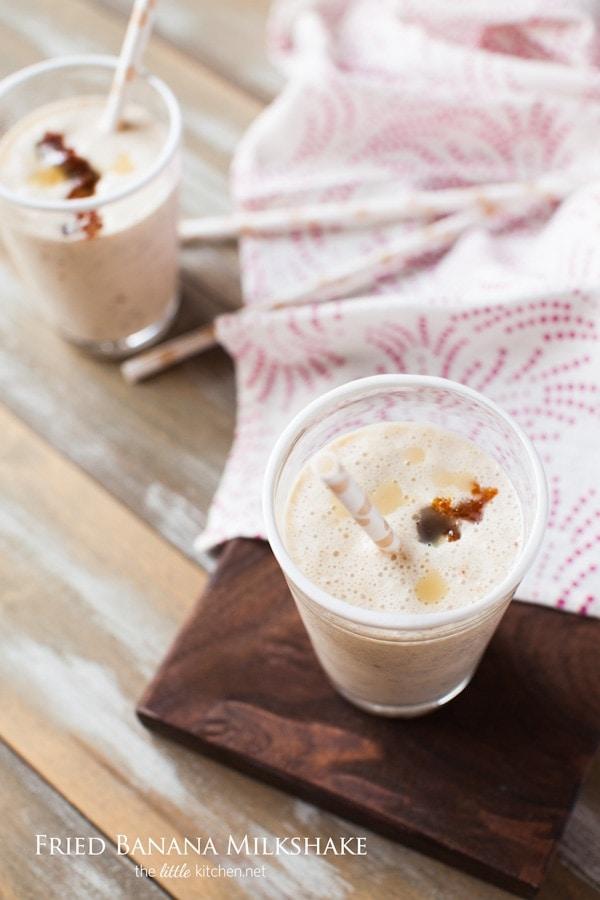 Fried Banana Milkshake from thelittlekitchen.net