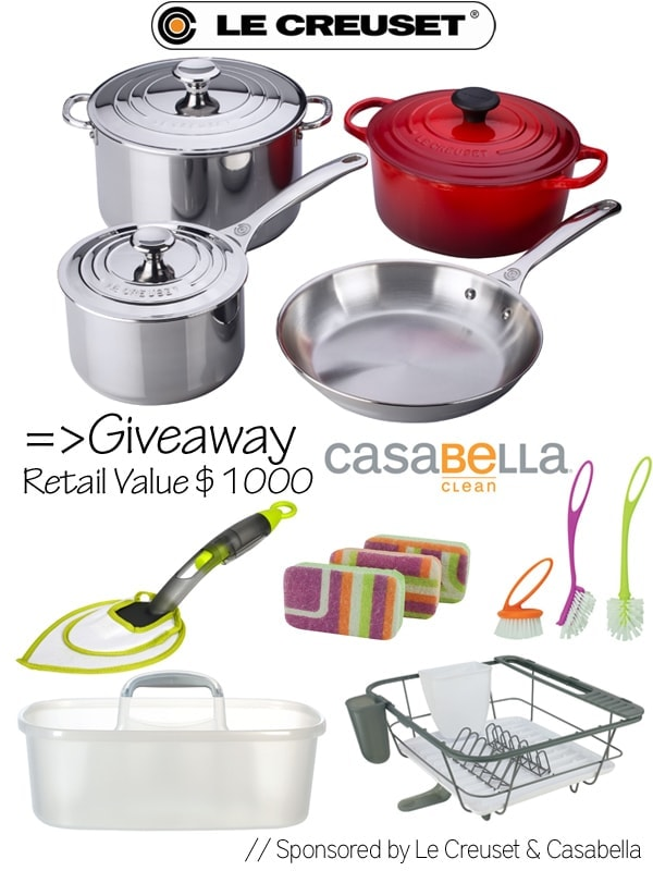 Le Creuset & Casabella Giveaway worth $1000