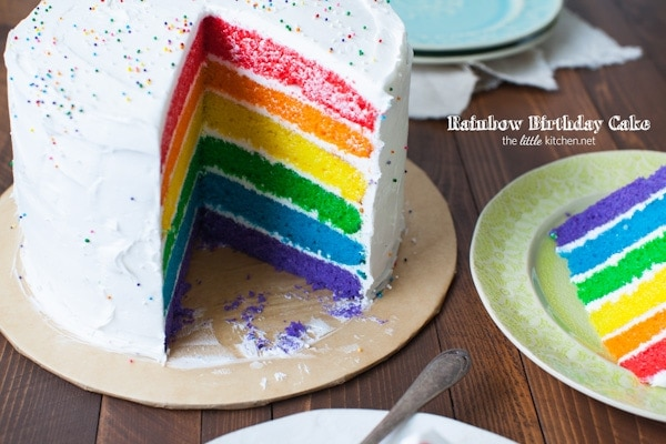 Birthday Cake Ideas Rainbow : Rainbow Birthday Cake The Little Kitchen