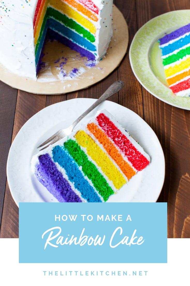 Rainbow Cake from thelittlekitchen.net