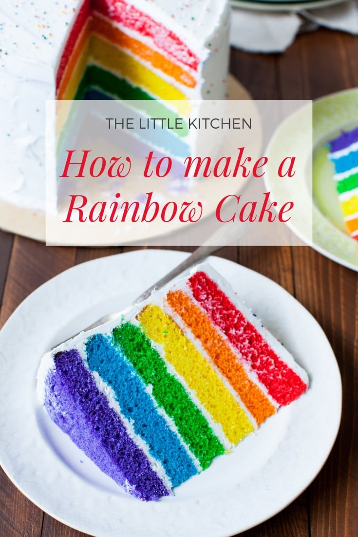 Rainbow Cake from thelittlekitchen.net