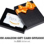 $150 Amazon Gift Card Giveaway from thelittlekitchen.net