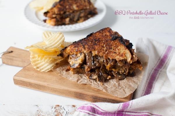 BBQ Portobello Grilled Cheese from thelittlekitchen.net