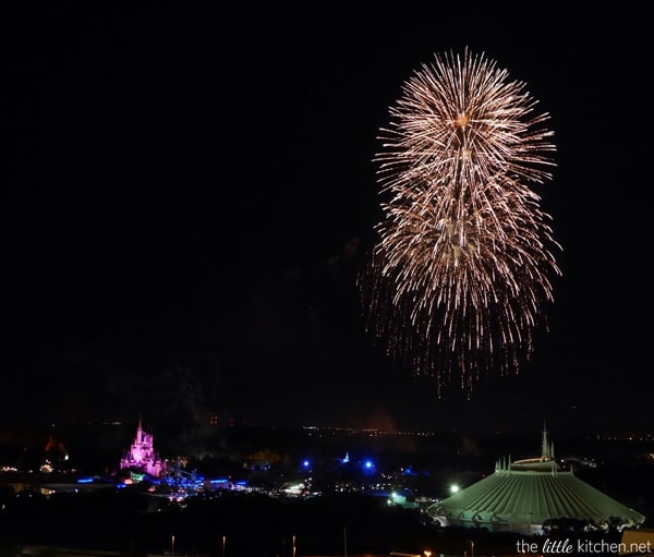 View of the Fireworks from California Grill