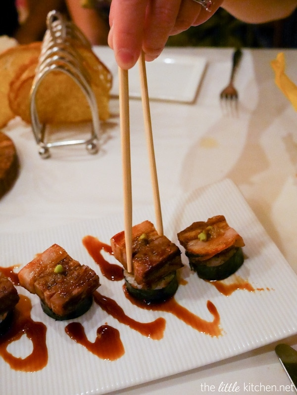 Pork Belly Nigiri from California Grill