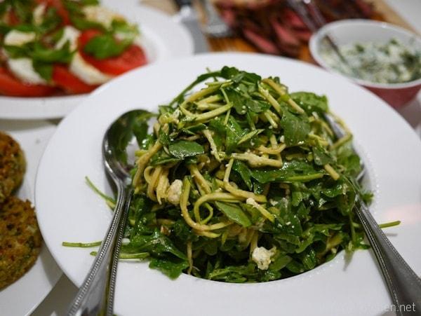 zucchini arugula salad