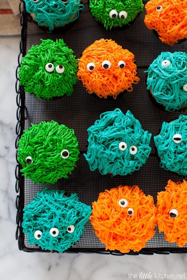 halloween monster cupcakes