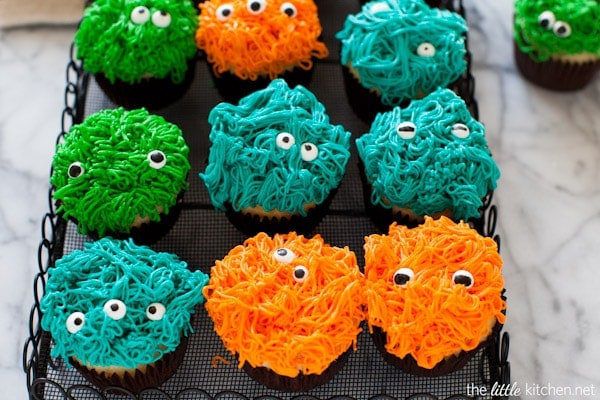 Monster Cupcakes from thelittlekitchen.net