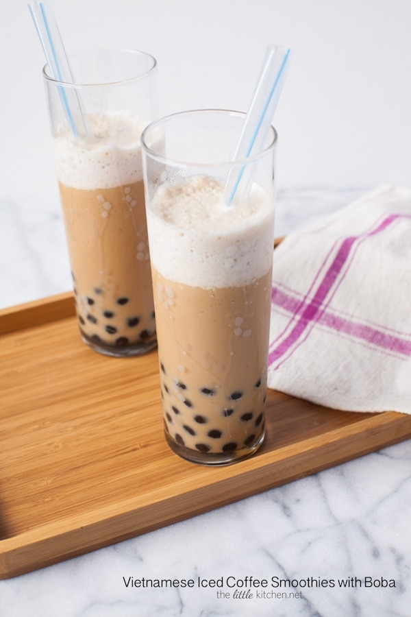 Vietnamese Iced Coffee Smoothie with Boba Recipe