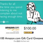 Amazon $100 Gift Card Giveaway