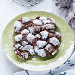 Nutella Cream Cheese Crinkle Cookies from thelittlekitchen.net