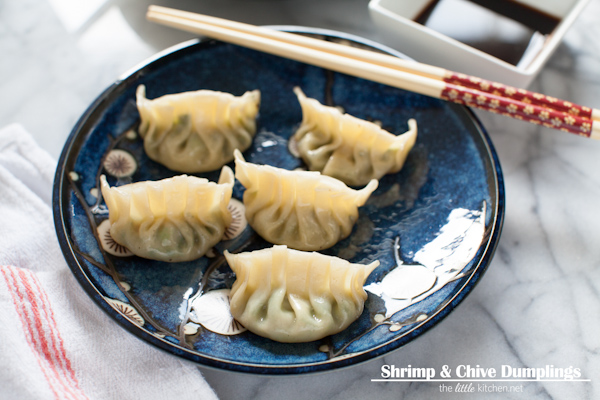 Shrimp & Chive Dumplings from thelittlekitchen.net