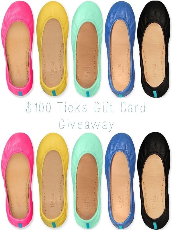 Tieks $100 Gift Card Giveaway