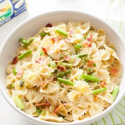 Brown Butter Pasta with Asparagus & Bacon from thelittlekitchen.net