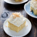 this tres leches cake is simply amazing with the right amount of moisture and it's not soggy! the coconut makes it even better! Coconut Tres Leches Cake from The Little Kitchen thelittlekitchen.net
