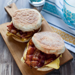Gouda cheese takes your bacon and egg breakfast sandwich to another level! Bacon Gouda Breakfast Sandwich from thelittlekitchen.net